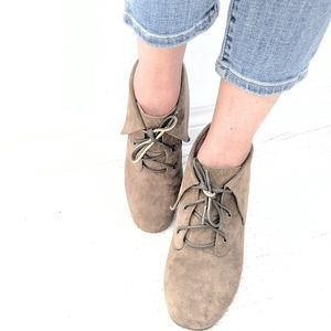 Michael Kors Taupe Suede Ankle Boots 7.5